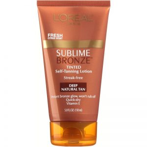 L'OREAL® Sublime Bronze™ Tinted Self-Tanning Lotion Deep Natural Tan- final