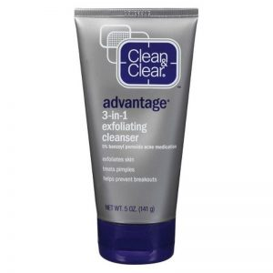 clean and clear 3-in-1 exfoliating cleanser