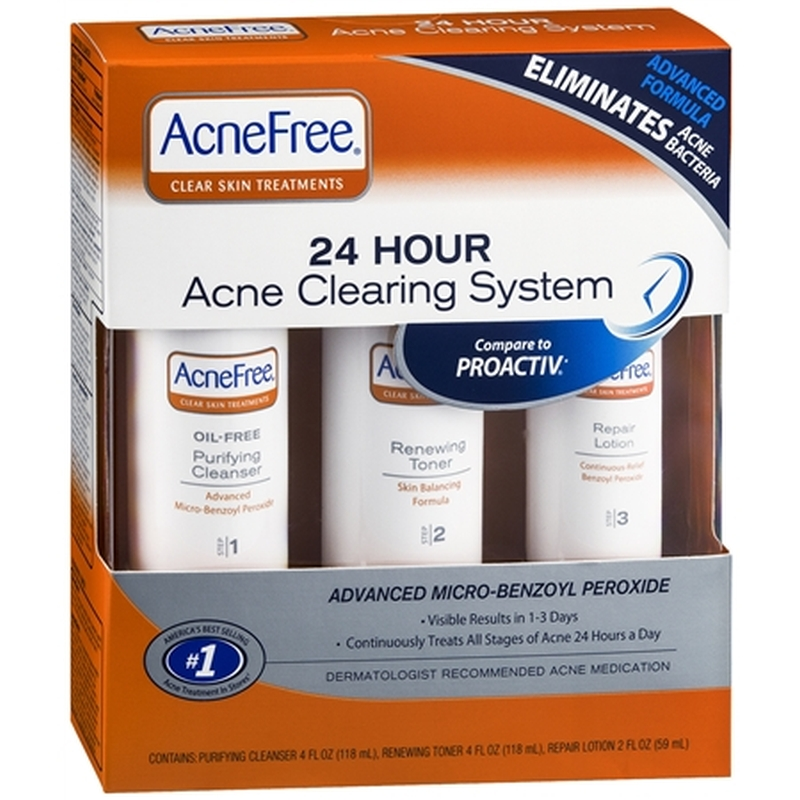 acnefree 24 hours acne cleansing system